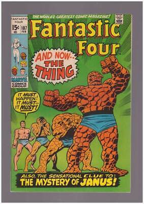 Fantastic Four # 107  And Now...the Thing !  grade 9.0 scarce book !