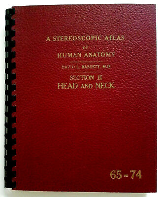 """VIEW MASTER """"ATLAS of HUMAN ANATOMY"""" SCHEIBE 65 -74 HEAD and NECK 4 Stereoscopic"""
