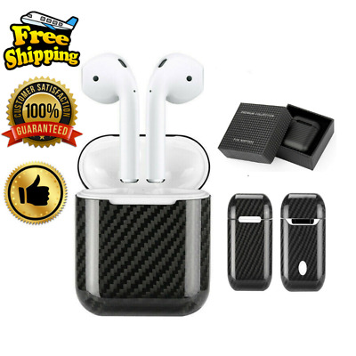 FOR Apple AirPods 100% Real Carbon Fiber Case EXTREME Ultra Slim Earphone Cover.