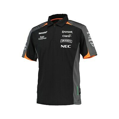 POLO Poloshirt Formula One 1 Sahara Force India Team Sponsor F1 NEW! Black