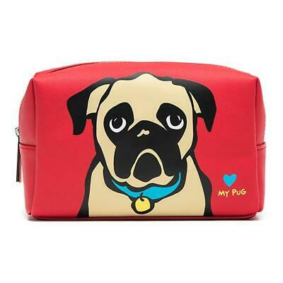 Marc Tetro Dog Cosmetic Case Toiletry Bag Large Pug Bichon or Cat