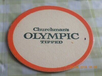 Cigarette/Tobacco Beermat Churchmans Olympic Cat ??? (1904PES)