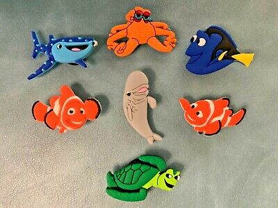 7 x FINDING NEMO Jibbitz Shoe Charm made for Crocs & Wristbands,