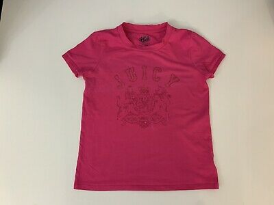Juicy Couture Girls T Shirt, Top, Size Age 10 Years, Pink, Vgc