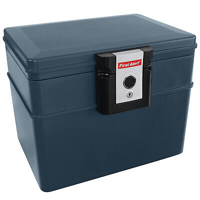 Water and Fire Proof Safe/ File Chest With Key Lock- 0.62 cf- Keep Papers Safe!