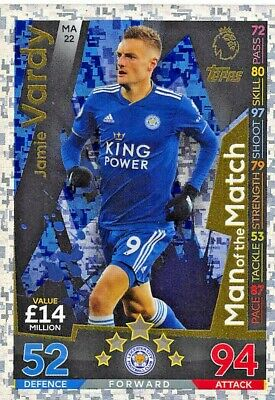 Match Attax Extra 2018/19 Jamie Vardy Man Of The Match Ma22 Mint