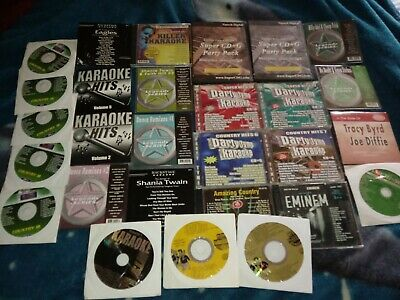 Karaoke cds lot of 28 with several genres