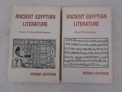 Lot Miriam Lichtheim ANCIENT EGYPTIAN LITERATURE 2 Vols Old Middle New Kingdom