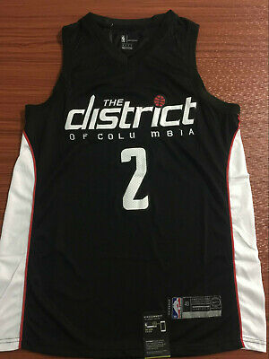 68867a82e NEW Washington Wizards  2 John Wall Swingman Basketball Jersey Black S XXL