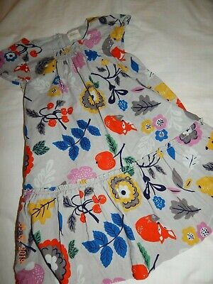 0a1d67281aca EUC Mini Boden Girls 3T 4T Woodland Animals Lightweight Corduroy Lined Dress  htf