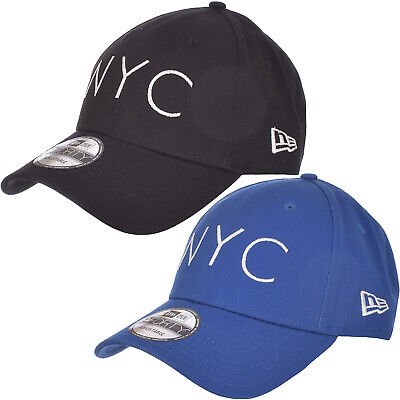 a77d16146 New Era Mens New York City NYC 9FORTY Adjustable Baseball Hat Cap - Blue /  Black