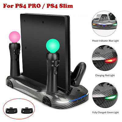 FlexDin Dual Move Charging & Light Cooling Radiator Stand for PS4 PRO PS4 Slim