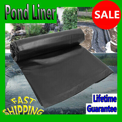 HDPE Fish Pool Pond Liner Membrane Reinforced Gardens Pools Landscaping Black