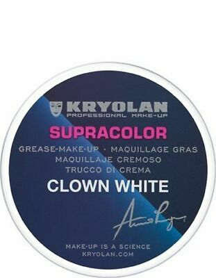 KRYOLAN SUPRACOLOR CLOWN WHITE FACE PAINT MAKE UP 80g / NEW