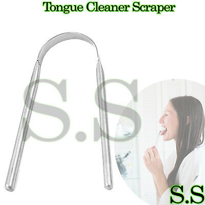 STAINLESS STEEL Tongue Cleaner Scraper NO PLASTIC/COPPER Tounge