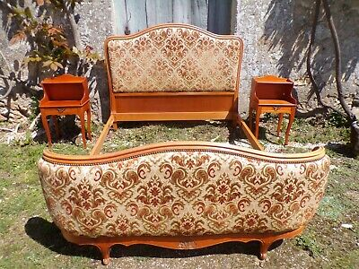 Rare French Antique Vintage Louis XV 1950s complete 7pc Bedroom Suite .