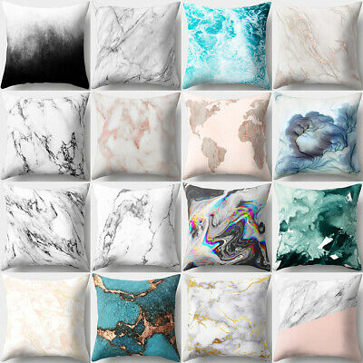 Marble Pattern Soft Comfortable Cushion Cover Bed Sofa Pillowcase Home Decor New