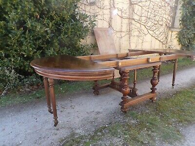 Large Extending Walnut French dining table -  8 - 14 Seater - Circa 1890