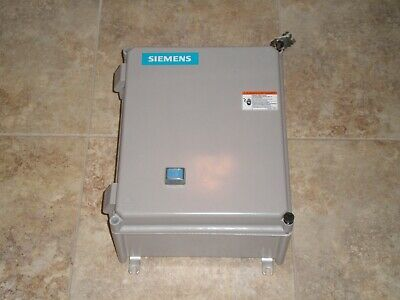 New Siemens 14CSB32FA Enclosure with 14CS+32A Motor Starter 48ASB3M20 Overload