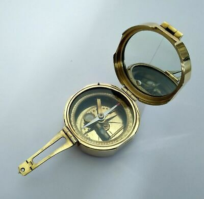 Compass Brass Brunton Surveying Compass Geological Antique Maritime Compass.