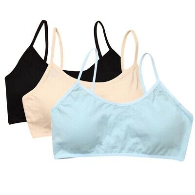 Cotton Girls Bra Soft Crop Top Teens Camisole Intimates Underwear Spageti Strap
