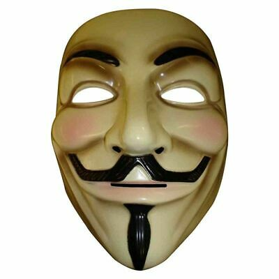 Vendetta Mask Anonymous Guy Halloween Party Cosplay Masque Mascara Fawkes Fancy