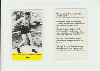 Boxing : Jack Dempsey : attractive German collectable game card