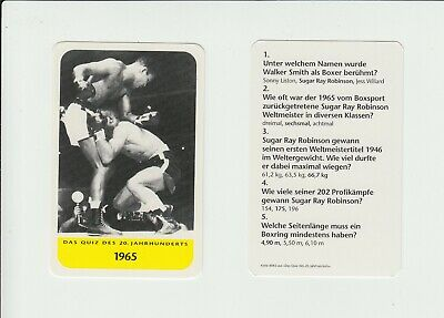Boxing : Sugar Ray Robinson : attractive German collectable game card