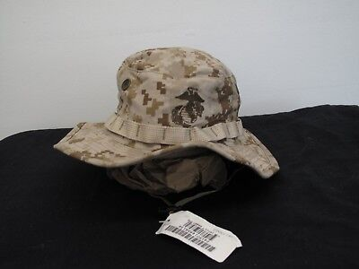91a28b5466f43 USMC Boonie Hat Desert MARPAT Field Cover US Marine Corps Size Small