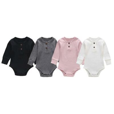 Baby Boys Girls Bodysuits Children's Clothing Solid Color