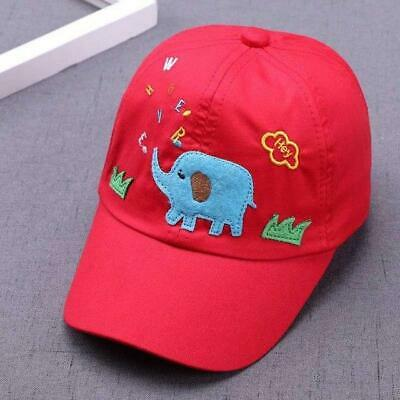 Baby Boys Girls Kids Toddler Infant 4Colors Hats Cartoon Embroidery