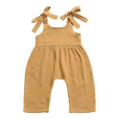 Baby Girls Summer Pants Children Solid Color Cotton