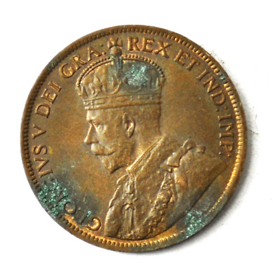 1918 1c Canada Large One Cent Penny KM#21 Bronze