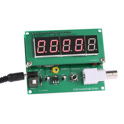 1Hz-50MHz Digital LED Frequency Meter Counter Tester Measurement 7V-9V 50mA Y9E7