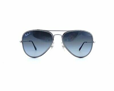 593064342 Ray-Ban RB3513M 164/T3 Polarized Aviator Flat Metal Gray Sunglasses 56mm  Italy