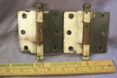 (2) Antique Butt Hinges Heavy Pin Type Used As Found