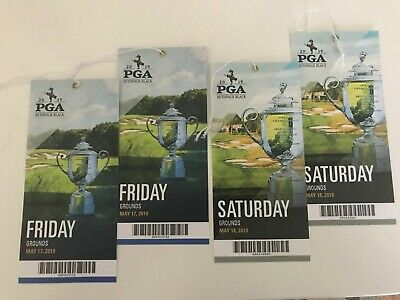 2019 PGA Championship 2 Grounds Tickets each day (4 tickets). Friday/Saturday