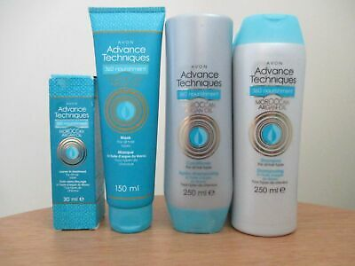 (A21)Avon Argan oil 5 piece set- shampoo-conditioner-mask- leave in treat- gloss