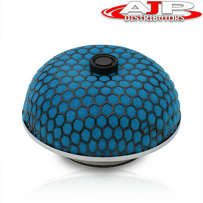 "3"" Blue W/ Black Mesh Mushroom Performance Filter For Cold Air/Short Ram Intake"
