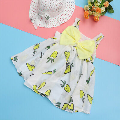1pc Princess Dress Bowknot Summer Apparel Costume Outfit Skirt for Kids