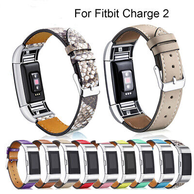 Genuine Leather Replacement Band Strap Braclet For Fitbit Charge 2 Smart Watch