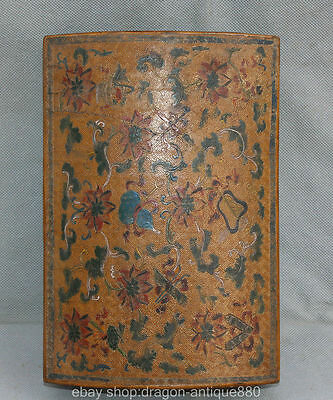 """11 """"Chinese Wood marked Qianlong Dynasty lacquer work 8 Immortals Artifact"""