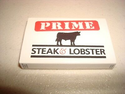 Rare Vintage Matches Match Box Prime Steak & Lobster Watchung NJ USA Original!