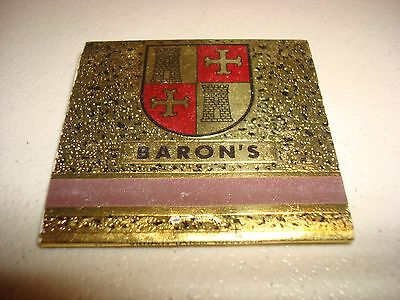 Rare Vintage Matches The Baron's Beef & Spirits Tucson AZ USA Original!