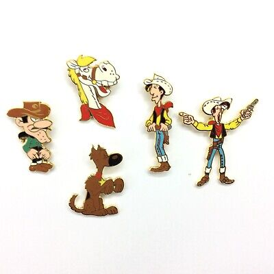 Pins folies* Lot série Promotion 5 Lucky Luke  Arthus bertrand Superbes en egf