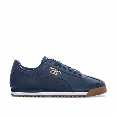 Mens Puma Roma Basic Trainers In Navy