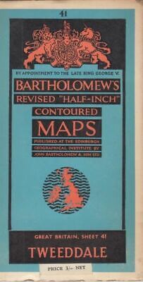 "Bartholomew's Revised ""Half-Inch"" Contoured Maps - Sheet 41 Tweeddale"