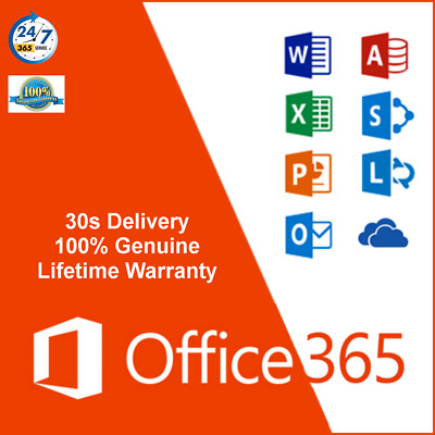 MS Office 365 ProPlus 2016 for 5 PC/MAC with 5TB OneDrive Free No Subscription