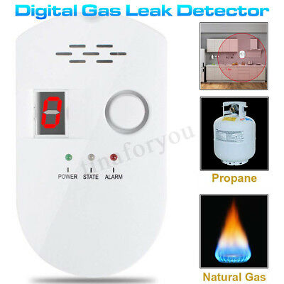 Digital Gas Leak Detector Propane Butane Methane Natural Sensitive Alarm Sensor
