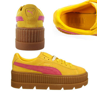 0d6865f26 Puma Fenty By Rihanna Cleated Creeper Lace Up Suede Womens Trainers 366268  Q5CD